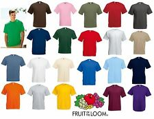 New Mens Plain Fruit Of The Loom Valueweight T Shirt cheap