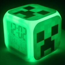 New ~ Minecraft Alarm Clock ~ Color Changing Lights ~ 3 Styles ~ Creeper is Back