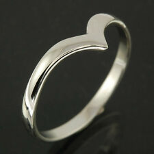 """Simple Classic """"V"""" Shaped Silver Ring, Mix US Sizes, Plain Solid Silver, RP718"""
