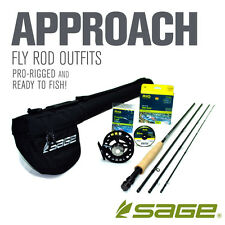 """NEW - Sage Approach 386-4 Fly Rod Outfit (8'6"""", 3wt, 4pc) - FREE SHIPPING!"""