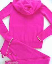 Juicy Couture Cashmere PInk Hoodie Pants Tracksuit Set Sweater Track $636