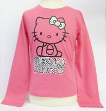 Girls Hello Kitty Pink Long Sleeve T-Shirt Style AMM-78414