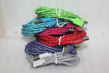 2 10 feet long braided Lightning USB cable data sync Charging cord For Iphone 5s