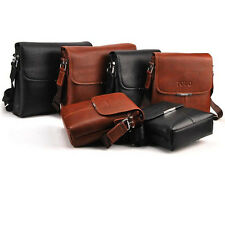 New  Men's PU Leather Shoulder Bag Messenger Bag Tablet PC bag Pad bag