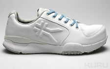 KURU WOMEN'S KINETIC - White Leather Walking Shoes Sneakers NIB