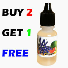 BUY 2 GET 1 FREE 15ML Bottle EJuice E-Liquid Vaporizer US Made ZERO No Nicotine