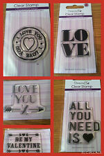 DOVECRAFT Clear Stamps VALENTINE'S DAY ***New for 2015***
