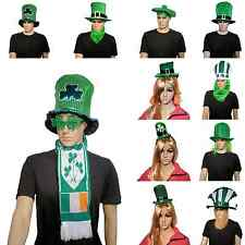 ST PATRICKS DAY Accessories LEPRECHAUN IRISH GREEN HAT BEARD SHAMROCK Top Hat