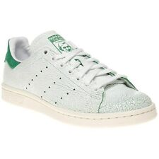 New Womens adidas White Stan Smith Leather Trainers Retro Lace Up