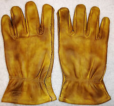 Custom Distressed Oiled Leather Cowhide Motorcycle Gloves Harley Chopper Vintage