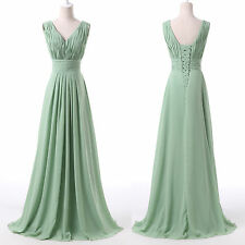 Sexy Long Bridesmaid Prom Dresses Party Ball Gown Formal Evening Dress Plus Size