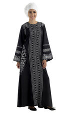 Black & White Print Abaya / Islamic clothing / Long dress