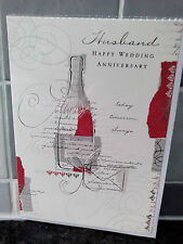 Wedding Anniversary Cards ~ Free 1st Class Post ~ Husband ~ Red Champagne