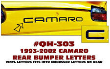 QH-303 1993-02 CHEVY CAMARO - REAR BUMPER TAIL LETTERS - EMBOSSED DECAL