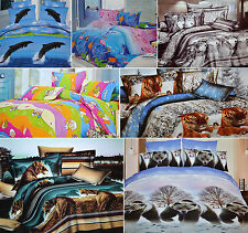 Todd Linen Animal Design Single & Double Reversible Duvet Quilt Cover Brand New