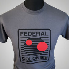 Federal Colonies Total Recall Retro Movie T Shirt Sci Fi 90's Cool