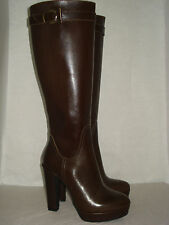 STIVALE DONNA marrone 37/38/39/40 100%VERAPELLE MADE ITALY FOD.PELLE-CHERRY-BOOT