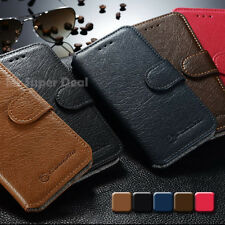 iPhone 4  5  6 Plus Galaxy S5 Note 4 Handy Leder Tasche Etui Flip Case Hülle