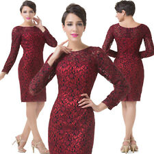 Red Vintage Mother of the Bride dress Bridesmaid Prom Party Evening Club Dresses