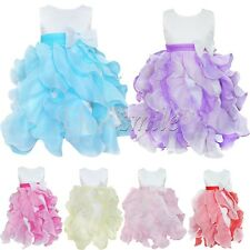 Toddler Baby Girl Bowknot Layered Dress Bridesmaid Christening Prom Party Formal
