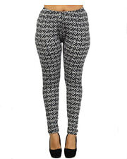 Cut and Sew Scattered Mirrors print  Leggings Plus Size