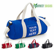BAGBASE Your text here VARSITY BARREL BAG (BG140) 20L COLLEGE SCHOOL GYM DUFFLE