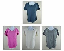 NWT G.H. BASS Womens Short Cuffed Sleeve Athletic Active Wear T Shirt Top SIze M