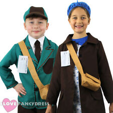 CHILDS WW2 EVACUEE COSTUME WORLD WAR 2 WARTIME KIDS 1930S 1940S FANCY DRESS