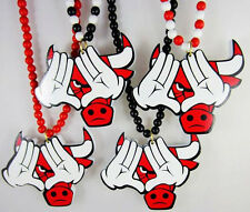 "Popular Hip-Hop Bull Pendants Wood Rosary Bead Necklaces 36"" High Quality 1pc"