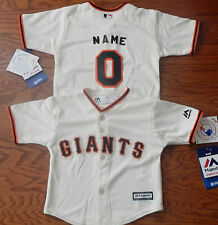 San Francisco Giants Cool Base MLB Majestic Infant Replica Jersey add name #