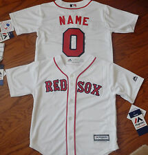 Boston Red Sox Cool Base MLB Majestic Kids Youth  Replica Jersey add name and  #