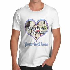 Men Quirky Novelty Joke Funny Gift Valentines Heart Photo Love T-Shirt