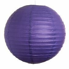 """Purple Paper Party Wedding Lanterns - 12"""", 16"""" and 20"""" sizes"""