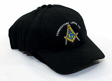 Lot of 6 Custom Embroidered Masonic Blue Lodge Baseball Hats Caps