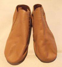 CAPEZIO CG05 LEATHER SPLIT SOLE GORE BOOTS / DANCE BALLET SHOES KIDS TAN SIZE 3