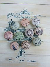 FRENCH ADVERT SHABBY CHIC KNOBS FOR CUPBOARDS/ DRAWERS-FARROW AND BALL PAINT