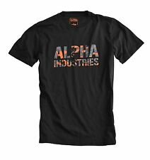 "ALPHA INDUSTRIES T-Shirt ""Camo"" Schwarz (156513)"