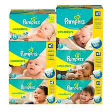 PAMPERS Swaddlers Diapers Size 0 1 2 3 4 5 6 PICK ANY SIZE |NO SALES TAX|