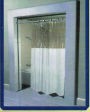 Anti-Bacterial Vinyl Window Shower Curtain: Rust Proof Grommets10-Gauge Vinyl