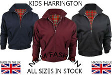 KIDS CLASSIC HARRINGTON MANUFACTURED IN UK 1970'S VINTAGE RETRO BOMBER JACKET