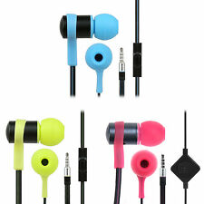 iKross 3.5mm In-Ear Soft Gel Stereo Handsfree Earbud Headset w/ Microphone