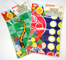NEW GIANT GAME PLAY MAT BOARD LARGE PIECES SNAKES & LADDERS or LUDO PADG 8301