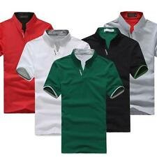 Hot Summer Men's T-shirt Short sleeve Solid color Work clothes POLO Shirt tops