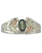 Black Hills Gold womens ring Mystic Fire Topaz on silver whole & half size 4-10