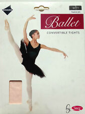 DANCE TIGHTS All Sizes Colours Full Stirrup Convertible Foot Shimmer Girls Ladie