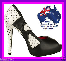 SIZE 10 Women's shoes black and White heels pumps shoes high heel  WOMEN'S Shoes