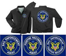 Bail Enforcement Fugitive Recovery Agent Embroidered Coaches Jacket Lined