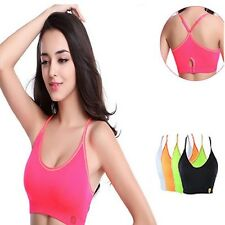 Seamless Sports Bra Vest Top Push up For Yoga Running Fitness Clothing Women