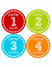 Personalized Baby Boy Monthly Stickers Custom Baby Name Boys Month Sticker 483