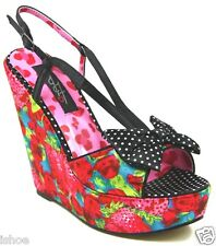 IRON FIST INDECENT OBSESSION STRAWBERRY WEDGE SLINGBACK SANDALS SHOES SIZE 3-9